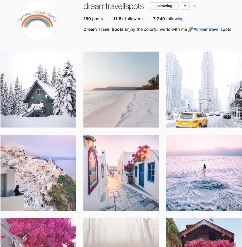 @dreamtravelspots Instagram Feed