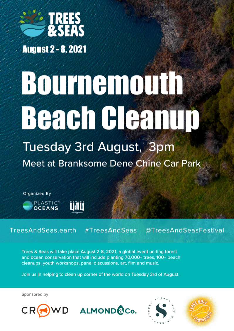 bournemouth beach clean up crowd